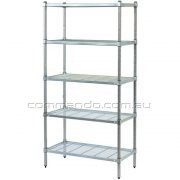 WIRE SHELVING – ZINC & STAINLESS STEEL