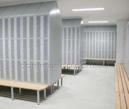 Steel lockers perforated door