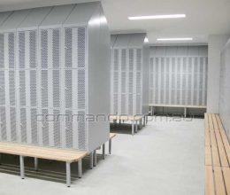 Steel lockers perforated door